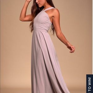 Air of Romance *Taupe* Maxi Dress